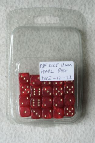 APF Dice-12-23 12mm D6 Pearl Red
